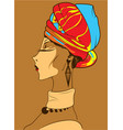 beautiful african woman vector image