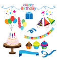 birthday party stickers set image vector image vector image