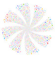 boot footprint fireworks swirl flower vector image vector image
