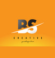 bs b s letter modern logo design with yellow vector image vector image