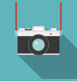 camera icon flat design vector image vector image