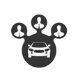 car sharing icon group of people symbol vector image