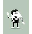 Cartoon mime vector image