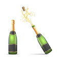 champagne bottle with popping cork vector image vector image