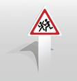 children warning sign vector image vector image