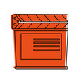 clapperboard film icon image vector image