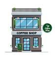 coffee shop building vector image