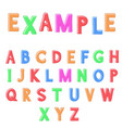 colored font vector image