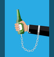 concept of alcohol addicted vector image vector image