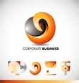 Corporate abstract logo icon design vector image vector image