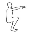 crouching man doing exercises crouches squat vector image vector image