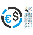Currency Diagram Icon With 2017 Year Bonus vector image vector image