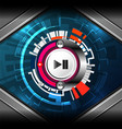 cyber media player vector image vector image