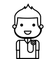 doctor with stethoscope isolated icon design vector image vector image