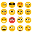 emotional face icons isolated on white vector image vector image