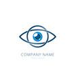 eye logo design template flat style design vector image vector image