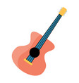 festive guitar for holiday on white background vector image