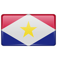 Flags Saba in the form of a magnet on refrigerator vector image vector image