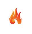 flame phoenix logo vector image