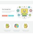 flat line business concept web site header vector image
