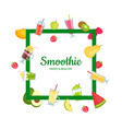 flat smoothie elements with place for text vector image