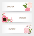 Flower background brochure template Set of floral vector image