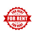 for rent grunge rubber stamp on white background vector image