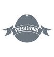fresh citrus logo simple style vector image