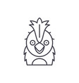 funny parrot line icon concept funny parrot vector image vector image