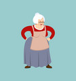 grandmother angry emoji face grandma evil vector image