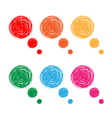 hand drawn bubbles vector image vector image