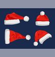 hat of santa claus closeup vector image vector image