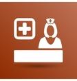 icon doctor closeup medical graphic design vector image