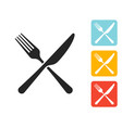 icon fork and knife sign vector image