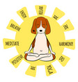 image a cartoon funny dog beagle sitting on vector image vector image