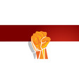 indonesia independence day hand fist arm flag red vector image vector image