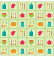Kitchen tools seamless pattern vector image vector image