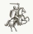 knight on horseback medieval heraldry symbol vector image vector image