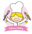Little Chef girl vector image vector image