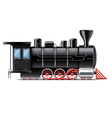 locomotive isolated vector image vector image
