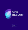 logo spa stone resort transparent shape vector image