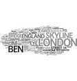 london word cloud concept vector image vector image
