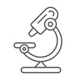 microscope thin line icon science and lab lens vector image vector image