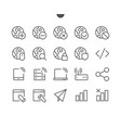network ui pixel perfect well-crafted thin vector image vector image