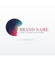 night sky with women face logo design concept vector image vector image