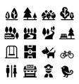 park public park national park garden icon set vector image