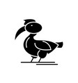 pelican black icon sign on isolated vector image vector image
