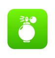 perfume bottle modern icon green vector image vector image