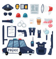 police policy signs of policeman and police vector image