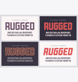 rugged san serif font alphabet typeface vector image vector image